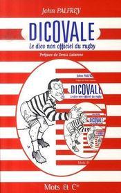 Dicovale : le dico non-officiel du rugby - Intérieur - Format classique