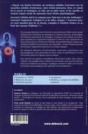 Physiologie des sports d'endurance en montagne - 4ème de couverture - Format classique