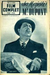 TOUS LES JEUDIS - FILM COMPLET N° 251 - SA MAJESTE Mr. DUPONT - Couverture - Format classique