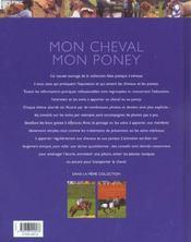 Mon cheval, mon poney - 4ème de couverture - Format classique