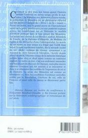 Écrire son temps. les mémoires en france de 1815 à 1848 - 4ème de couverture - Format classique