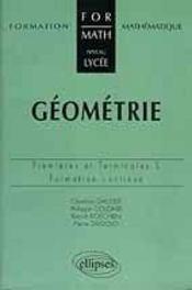 Geometrie Premiere Et Terminale S Formation Mathematique Au Lycee - Intérieur - Format classique