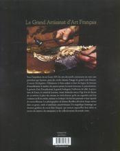 Le grand artisanat d'art français - 4ème de couverture - Format classique