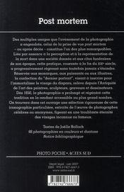 Post mortem - 4ème de couverture - Format classique