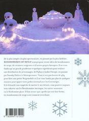 Bonshommes De Neige - 4ème de couverture - Format classique