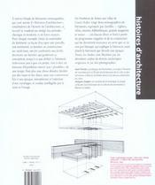 Histoires D'Architecture - 4ème de couverture - Format classique