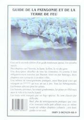 Guide de la Patagonie et de la terre de feu (2e édition) - 4ème de couverture - Format classique
