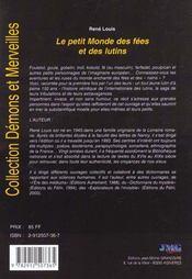 Petit Monde Des Fees Et Des Lutins (Le) - 4ème de couverture - Format classique