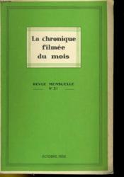 La Chronique Filmee Du Mois N°31 - Couverture - Format classique