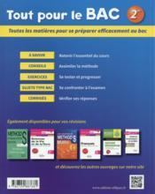 Tout Pour Le Bac ; Tout-En-Un ; 2nde ; Cours Méthodes Exercices Sujets Corrigés - 4ème de couverture - Format classique