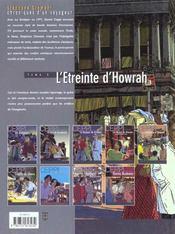 Stephane clement t.5 ; l'etreinte d'howrah - 4ème de couverture - Format classique