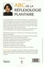 ABC de la réflexologie plantaire - 4ème de couverture - Format classique