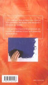 Peintures et crepis decoratifs ; maitrise des techniques - 4ème de couverture - Format classique