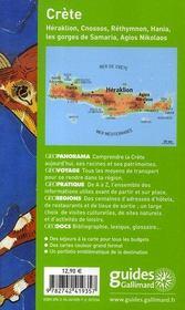 Geoguide ; Crète ; Heraklion, Cnossos, Rethymnon, Hania, Les Gorges De Samar (Edition 2007-2008) - 4ème de couverture - Format classique