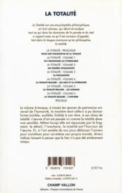 La totalité t.4 ; la totalité réalisée ; les arts et la littérature - 4ème de couverture - Format classique