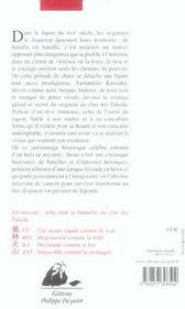 Sabre Des Takeda (Le) - 4ème de couverture - Format classique