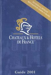 Chateaux Et Hotels De France 2001 - Intérieur - Format classique