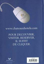 Chateaux Et Hotels De France 2001 - 4ème de couverture - Format classique
