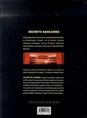 Secrets bancaires t.2.2 ; le goût de l'argent - 4ème de couverture - Format classique