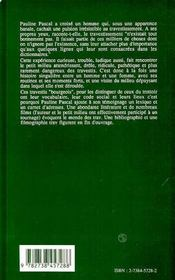 Traveland ; La Dame Et Le Travesti - 4ème de couverture - Format classique