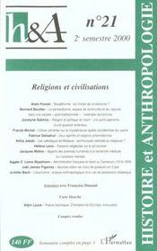 Revue Histoire Et Anthropologie N.21 ; Religions Et Civilisations - Intérieur - Format classique
