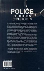Police ; Des Chiffres Et Des Doutes - 4ème de couverture - Format classique