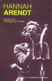 Hannah Arendt, Biographie - Intérieur - Format classique
