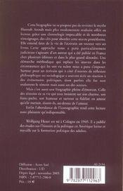 Hannah Arendt, Biographie - 4ème de couverture - Format classique