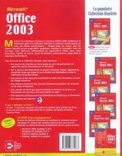 Office 2003. exercices, pdf et solutions - 4ème de couverture - Format classique