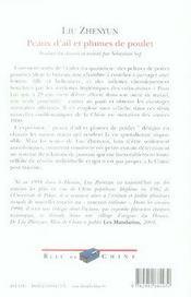 Peaux D'Ail Et Plumes De Poulet - 4ème de couverture - Format classique