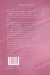 La Vestale Assassinee - 4ème de couverture - Format classique