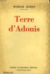 Terre D'Adonis. - Couverture - Format classique