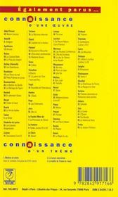 Poésies d'Arthur Rimbaud - 4ème de couverture - Format classique