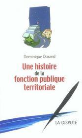 Histoire De La Fonction Publique Territoriale - Intérieur - Format classique