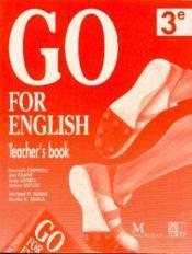 Go For English 3e / Livre Du Professeur (Afrique Centrale) - Couverture - Format classique