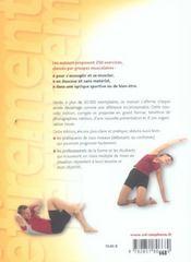 Étirement et renforcement musculaire ; 250 exercices - 4ème de couverture - Format classique
