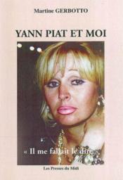 Yann Piat Et Moi - Couverture - Format classique