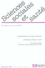 Revue Sciences Sociales Et Sante N.23 ; Rationalisation Des Pratiques Médicales - Intérieur - Format classique