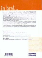 Cardiologie - 4ème de couverture - Format classique