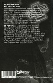 Eva Te Faire Voir - 4ème de couverture - Format classique