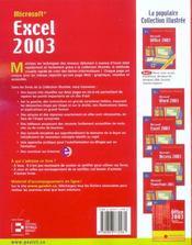 Excel 2003.exercices et solutions - 4ème de couverture - Format classique