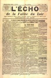 Echo De La Vallee Du Loir (L') N°59 du 03/06/1948 - Couverture - Format classique