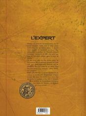 L'expert t.4 ; justice - 4ème de couverture - Format classique