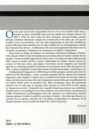 André gide - eugène rouart, correspondance t.2 ; 1902-1936 - 4ème de couverture - Format classique
