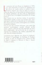 Les Procreations Medicalement Assistees : Vingt Ans Apres - 4ème de couverture - Format classique