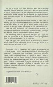 Journalistes Algeriens, Entre Le Baillon Et Les Balles - 4ème de couverture - Format classique