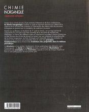 Chimie inorganique - 4ème de couverture - Format classique