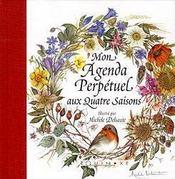 Agenda perpétuel aux quatre saisons - Couverture - Format classique