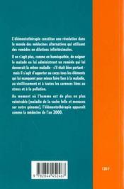 Principes D'Elementotherapie - 4ème de couverture - Format classique
