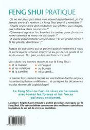 Feng Shui Pratique - 150 Questions-Reponses Pour Toutes Les Situations - 4ème de couverture - Format classique